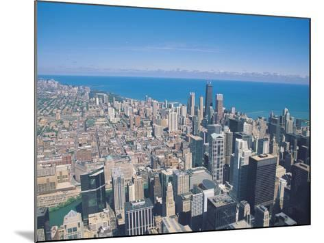 Aerial View of Chicago, Illinois-Jim Schwabel-Mounted Photographic Print