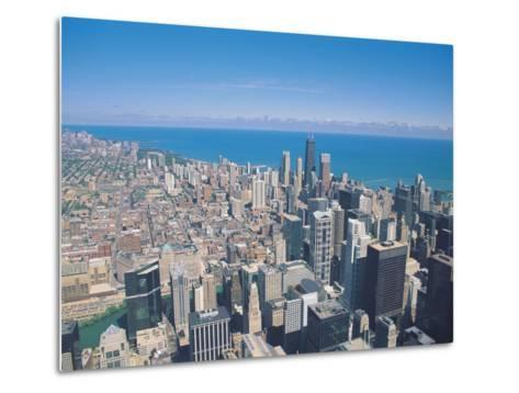 Aerial View of Chicago, Illinois-Jim Schwabel-Metal Print