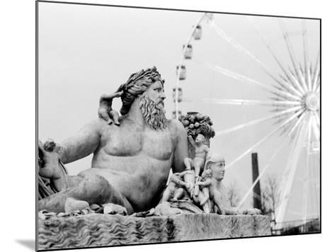 Statue and Ferris Wheel, Jardin Des Tuileries-Walter Bibikow-Mounted Photographic Print