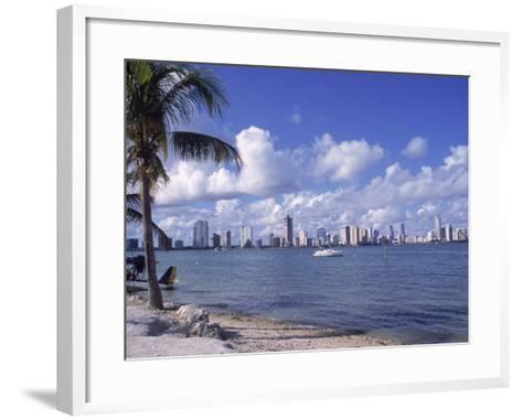 Miami Skyline, FL-Cheyenne Rouse-Framed Art Print