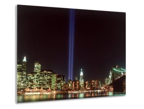 World Trade Center Memorial Lights, New York City-Rudi Von Briel-Metal Print