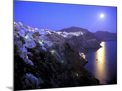 Moonrise on Santorini, Greece-Kevin Beebe-Mounted Photographic Print
