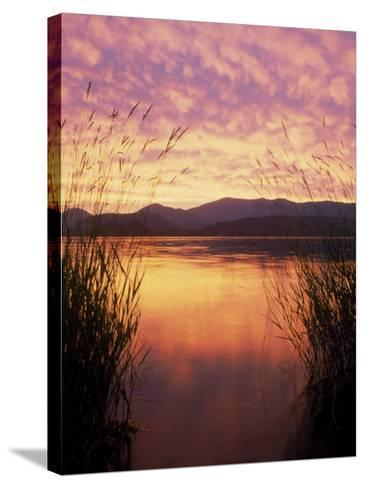 Sandpoint, Id, Sunset on Lake Pond Oreille-Mark Gibson-Stretched Canvas Print