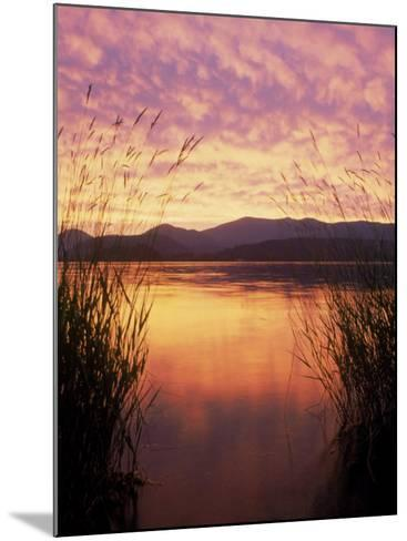 Sandpoint, Id, Sunset on Lake Pond Oreille-Mark Gibson-Mounted Photographic Print