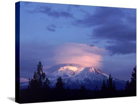 Mt. Shasta at Dusk-Mark Gibson-Stretched Canvas Print