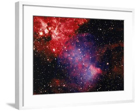 Stars and Nebula-Terry Why-Framed Art Print