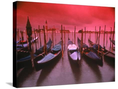 Gondolas, Venice, Italy-Frank Chmura-Stretched Canvas Print