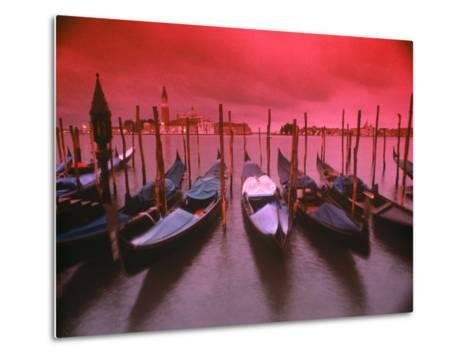 Gondolas, Venice, Italy-Frank Chmura-Metal Print
