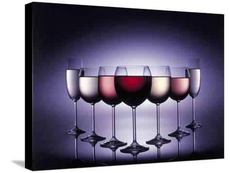 Glasses of Wine-Kurt Freundlinger-Stretched Canvas Print