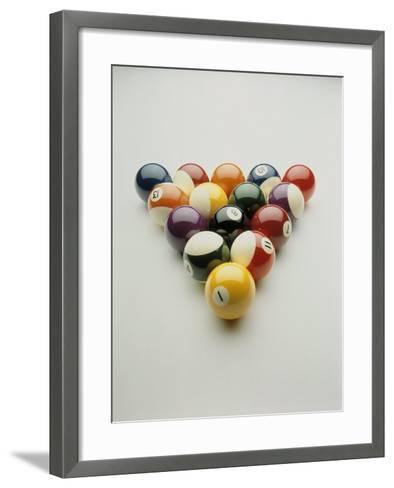 Pool Balls Racked Up-Howard Sokol-Framed Art Print