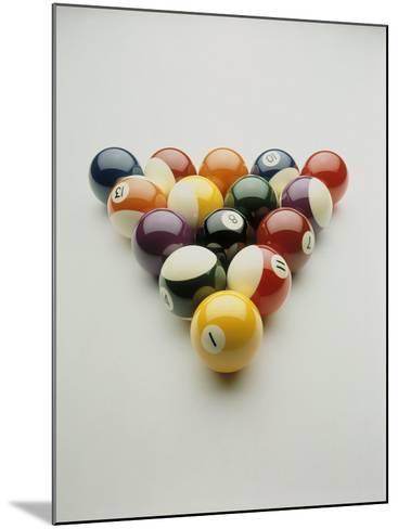 Pool Balls Racked Up-Howard Sokol-Mounted Photographic Print
