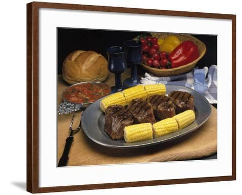 Steak and Corn on the Cob-Gale Beery-Framed Art Print