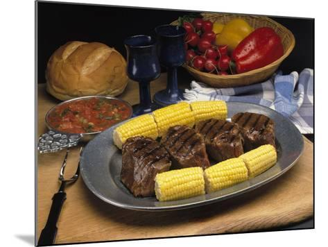 Steak and Corn on the Cob-Gale Beery-Mounted Photographic Print