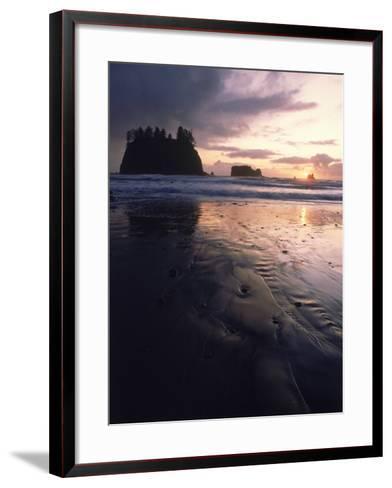 Beach at Sunset, La Push, WA-Jim Corwin-Framed Art Print