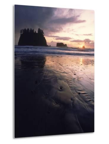 Beach at Sunset, La Push, WA-Jim Corwin-Metal Print