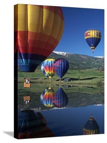 Hot Air Balloons, Snowmass, CO-Fred Luhman-Stretched Canvas Print