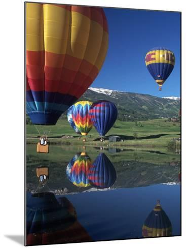 Hot Air Balloons, Snowmass, CO-Fred Luhman-Mounted Photographic Print