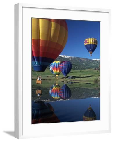 Hot Air Balloons, Snowmass, CO-Fred Luhman-Framed Art Print