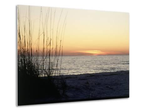 Sunset on Sanibel Island, Gulf Coast of FL-David Davis-Metal Print