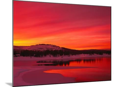 Sunset at Boca Reservoir, Truckee, CA-Kyle Krause-Mounted Photographic Print