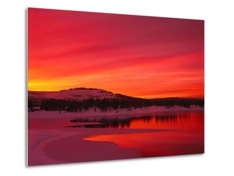 Sunset at Boca Reservoir, Truckee, CA-Kyle Krause-Metal Print