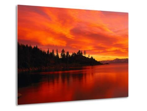 Sunset, Sierra Mountains, Lake Tahoe, CA-Kyle Krause-Metal Print