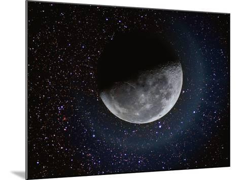 Moon and Stars-Dennis Lane-Mounted Photographic Print