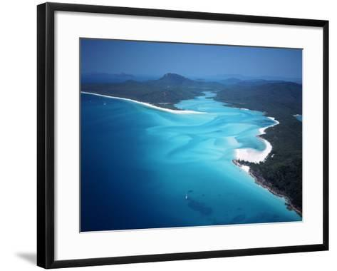 Whitehaven Beach, Queensland, Australia-David Ball-Framed Art Print