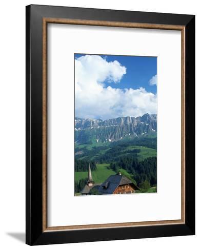 Church and House, Emmental, Switzerland-Peter Adams-Framed Art Print