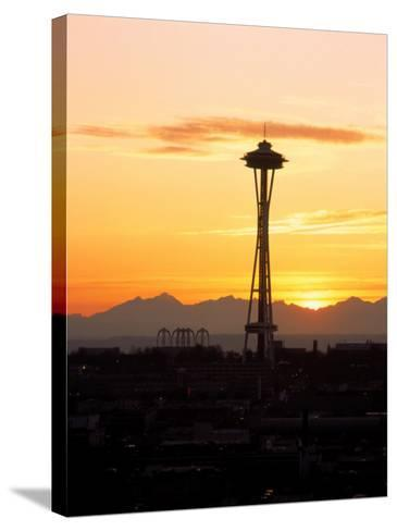 Seattle Space Needle, WA-George White Jr^-Stretched Canvas Print
