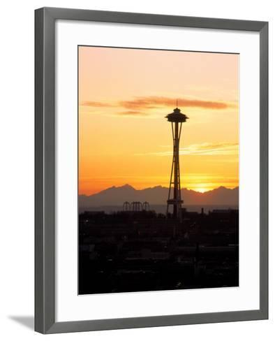 Seattle Space Needle, WA-George White Jr^-Framed Art Print