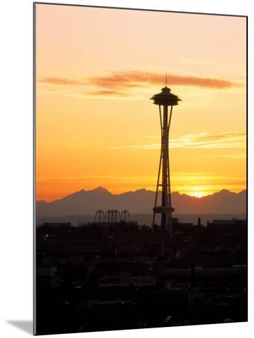 Seattle Space Needle, WA-George White Jr^-Mounted Photographic Print