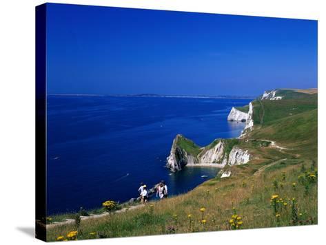 Durdle Door Coastline, Weymouth Bay, Dorset, UK-David Ball-Stretched Canvas Print