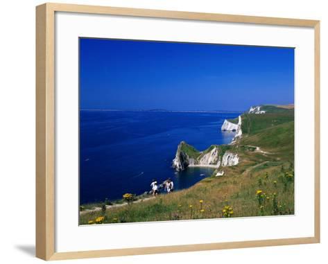 Durdle Door Coastline, Weymouth Bay, Dorset, UK-David Ball-Framed Art Print