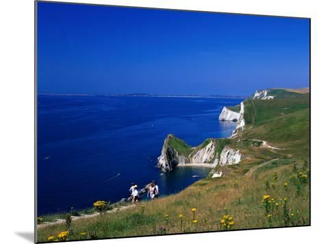 Durdle Door Coastline, Weymouth Bay, Dorset, UK-David Ball-Mounted Photographic Print