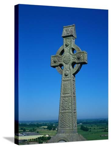 Celtic Cross with Knotted Desings, 7th Century, Ireland-Claire Rydell-Stretched Canvas Print