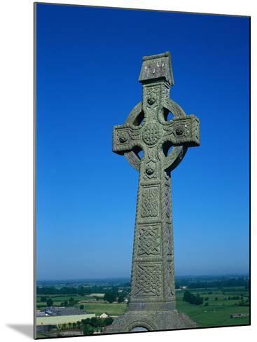 Celtic Cross with Knotted Desings, 7th Century, Ireland-Claire Rydell-Mounted Photographic Print