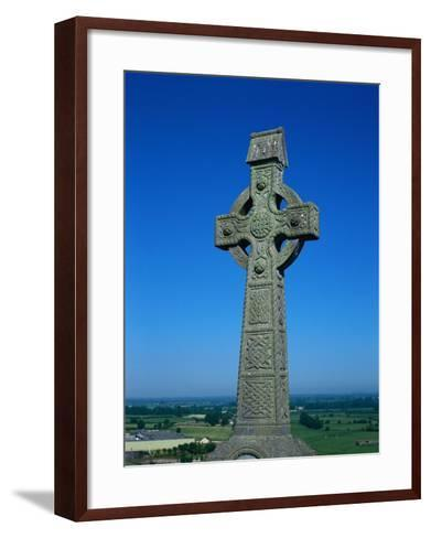 Celtic Cross with Knotted Desings, 7th Century, Ireland-Claire Rydell-Framed Art Print