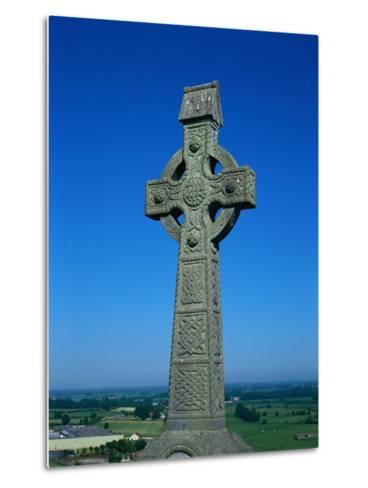 Celtic Cross with Knotted Desings, 7th Century, Ireland-Claire Rydell-Metal Print