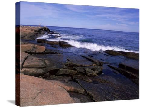 Atlantic Ocean, Halibut Point State Park, MA-Jim Schwabel-Stretched Canvas Print