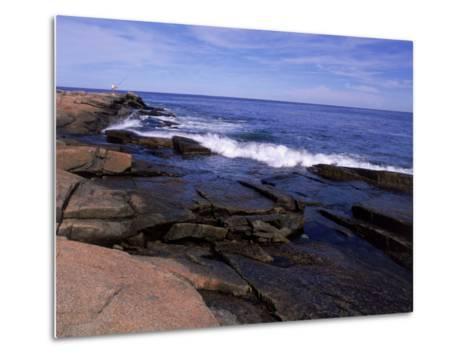Atlantic Ocean, Halibut Point State Park, MA-Jim Schwabel-Metal Print