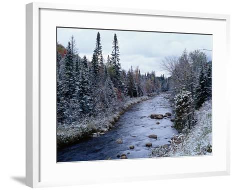West Branch River, Adirondack Mountains, NY-Jim Schwabel-Framed Art Print