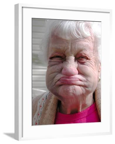 Miss Lillie Puts on Her Best Face, North FL-Pat Canova-Framed Art Print