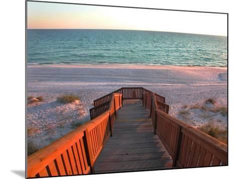 Boardwalk Leading to Shore-Pat Canova-Mounted Photographic Print