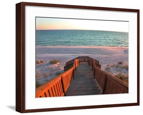 Boardwalk Leading to Shore-Pat Canova-Framed Art Print