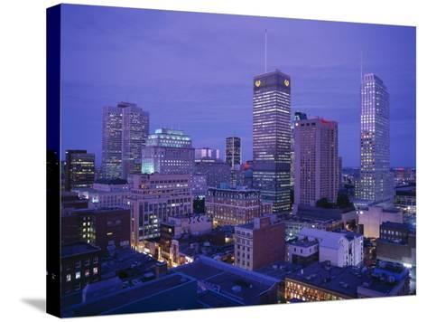 Downtown, Montreal, Quebec, Canada-Walter Bibikow-Stretched Canvas Print