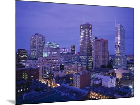 Downtown, Montreal, Quebec, Canada-Walter Bibikow-Mounted Photographic Print