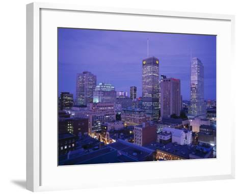Downtown, Montreal, Quebec, Canada-Walter Bibikow-Framed Art Print