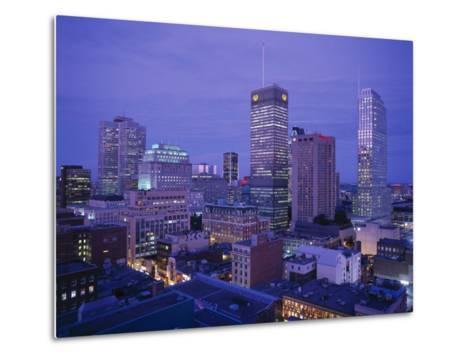 Downtown, Montreal, Quebec, Canada-Walter Bibikow-Metal Print