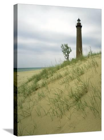 Little Sable Point Lighthouse, Oceana County, MI-Willard Clay-Stretched Canvas Print